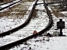 Wykolejnica zamknięta na stacji w Sosnowcu
